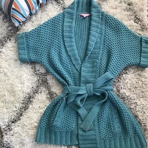 Lilly Pulitzer Cable knit Wrap Cardigan